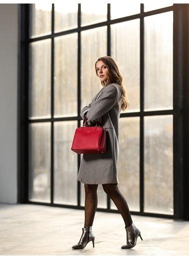 Cengiz Pakel 7188D Teknolojik Deri Orta Boy Renk Diana Omuz Çantası Kırmızı